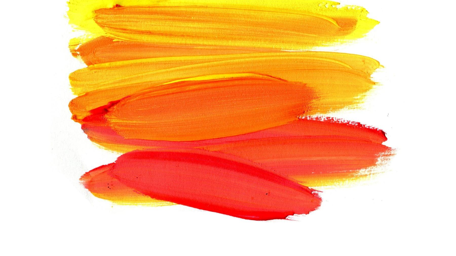 Pinceladas de pinturas de colores