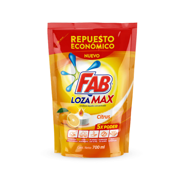 Fab Lozamax Citrus Doypack packs shot
