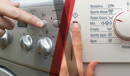 botones de lavadora